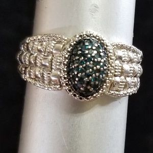 Jewelry - Sterling Silver Blue Diamond Ring